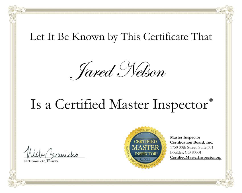 inspector master certified certificate inspectors florida certification state
